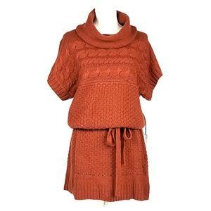 New Fylo Burnt Orange Sweater Dress
